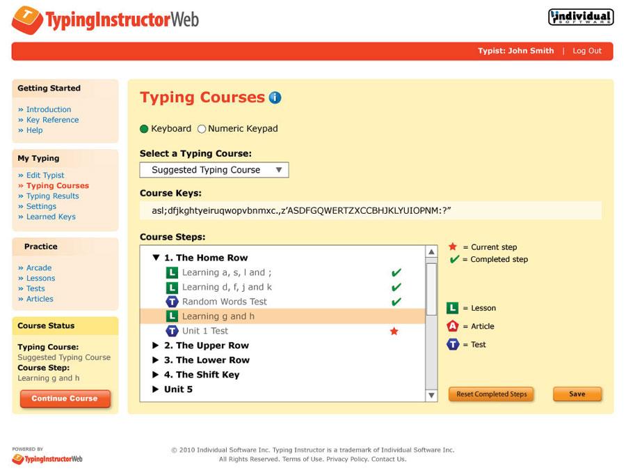Home Typinginstructorweb